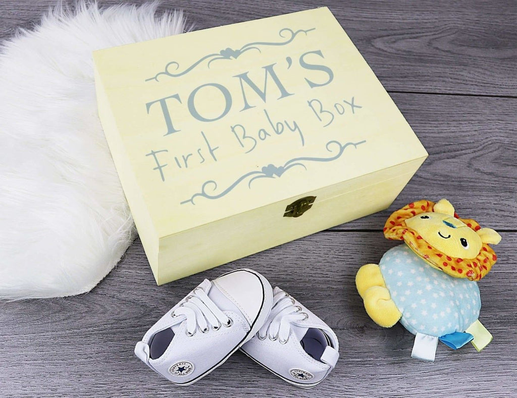 Personalised Baby Boy First Baby Box - Keepsake Box - Keepsake Gift - The Gift Project