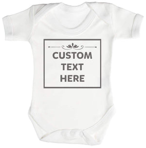 Personalised Custom Text Here Short Sleeve Baby Bodysuit - The Gift Project