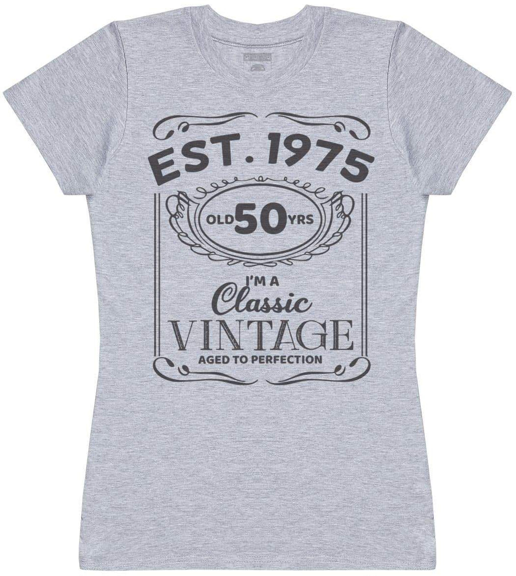 Personalised EST. I'm A Classic Vintage Aged To Perfection - Womens T- Shirt - The Gift Project