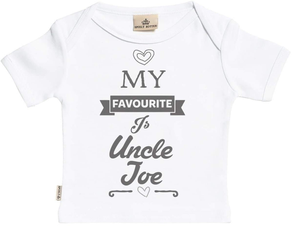 Personalised Favourite Uncle Baby T-Shirt - The Gift Project