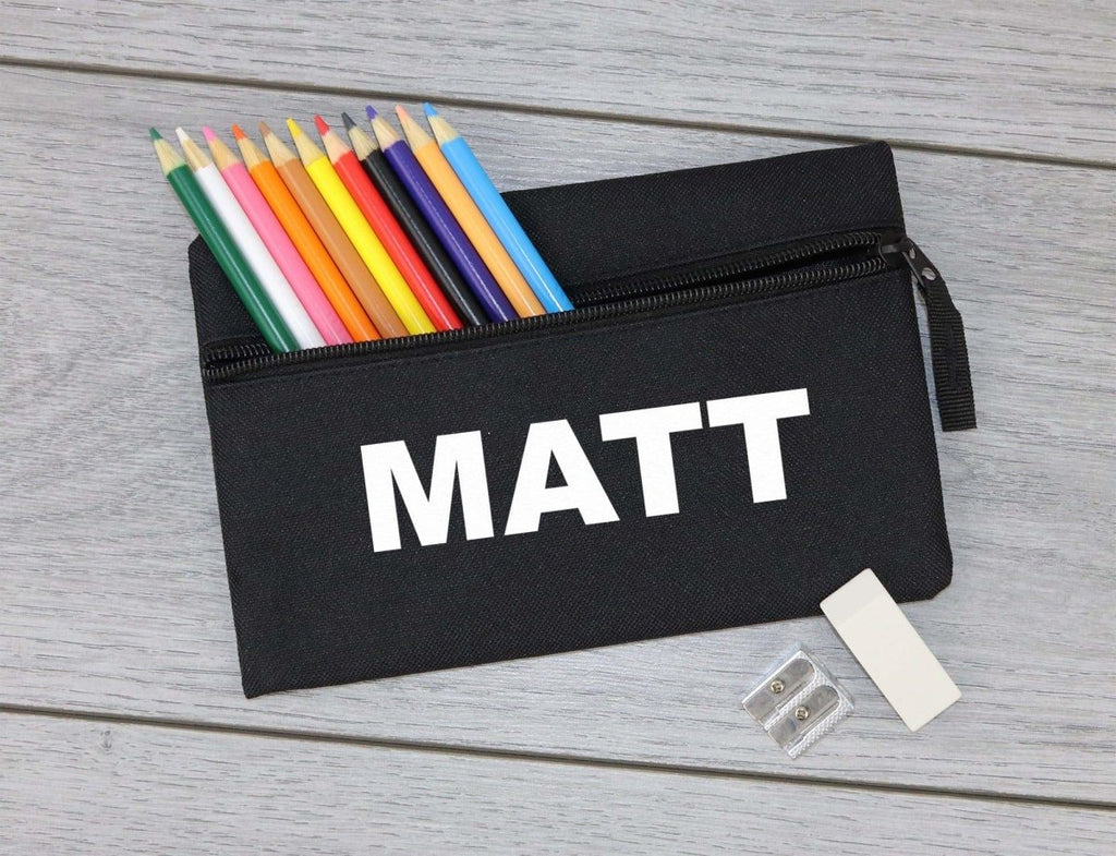 Personalised Name - 'Matt' Example - Pencil Case, Kids Pencil Case, Stationary Bag Holder - The Gift Project