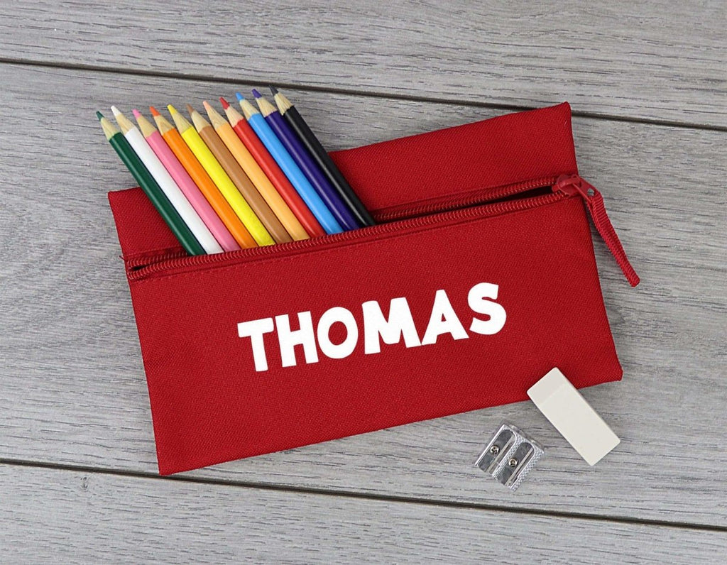 Personalised Name - 'Thomas' Example - Pencil Case, Kids Pencil Case, Stationary Bag Holder - The Gift Project