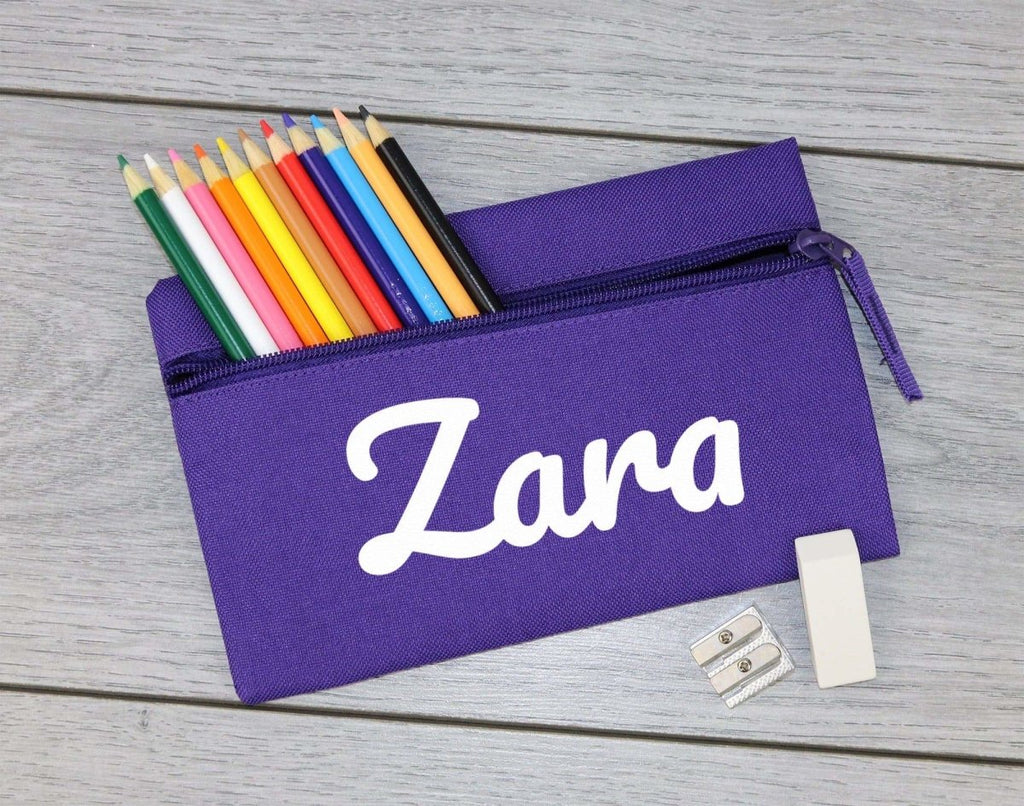 Personalised Name - 'Zara' Example - Pencil Case, Kids Pencil Case, Stationary Bag Holder - The Gift Project
