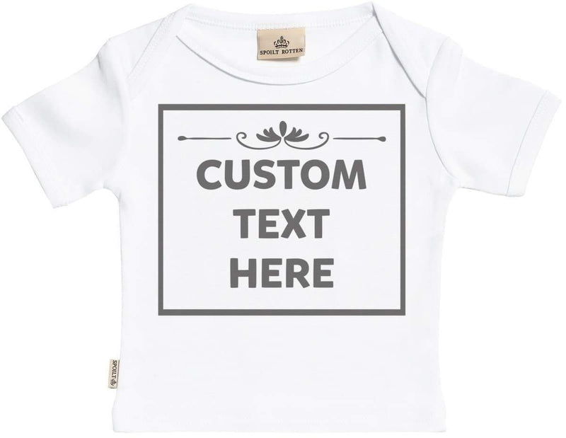 Personalised Text Box Baby T-Shirt - The Gift Project