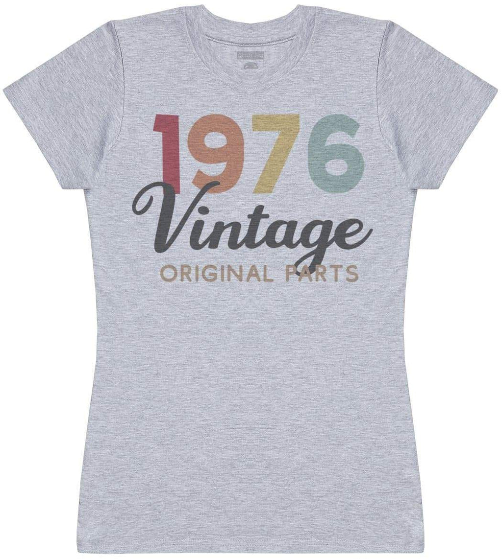 Personalised Vintage Original Parts - Womens T- Shirt - The Gift Project