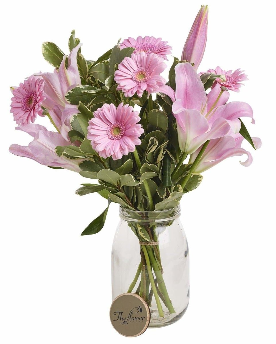 Pink Lily & Germini Fresh Flower Bunch - The Gift Project