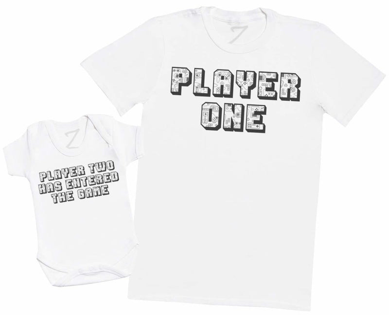 Player One Player Two TEXT - Baby Bodysuit & Mens T-Shirt - The Gift Project