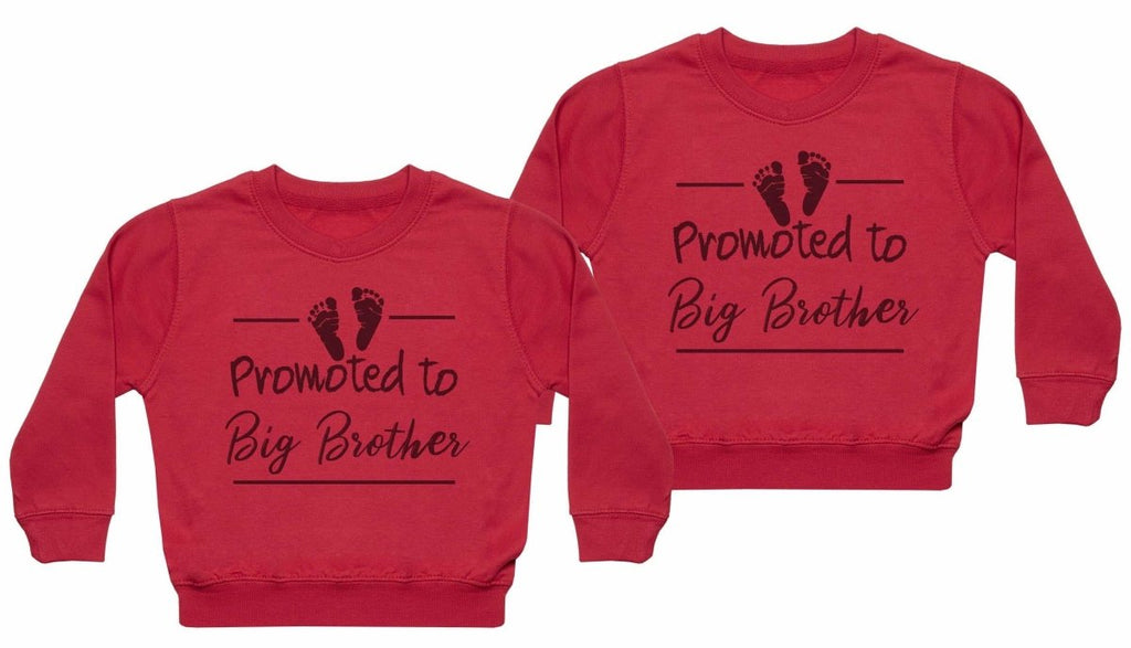 Promoted To Big Brother - Matching Kids Set - Baby / Kids Sweaters - Gift Set - The Gift Project