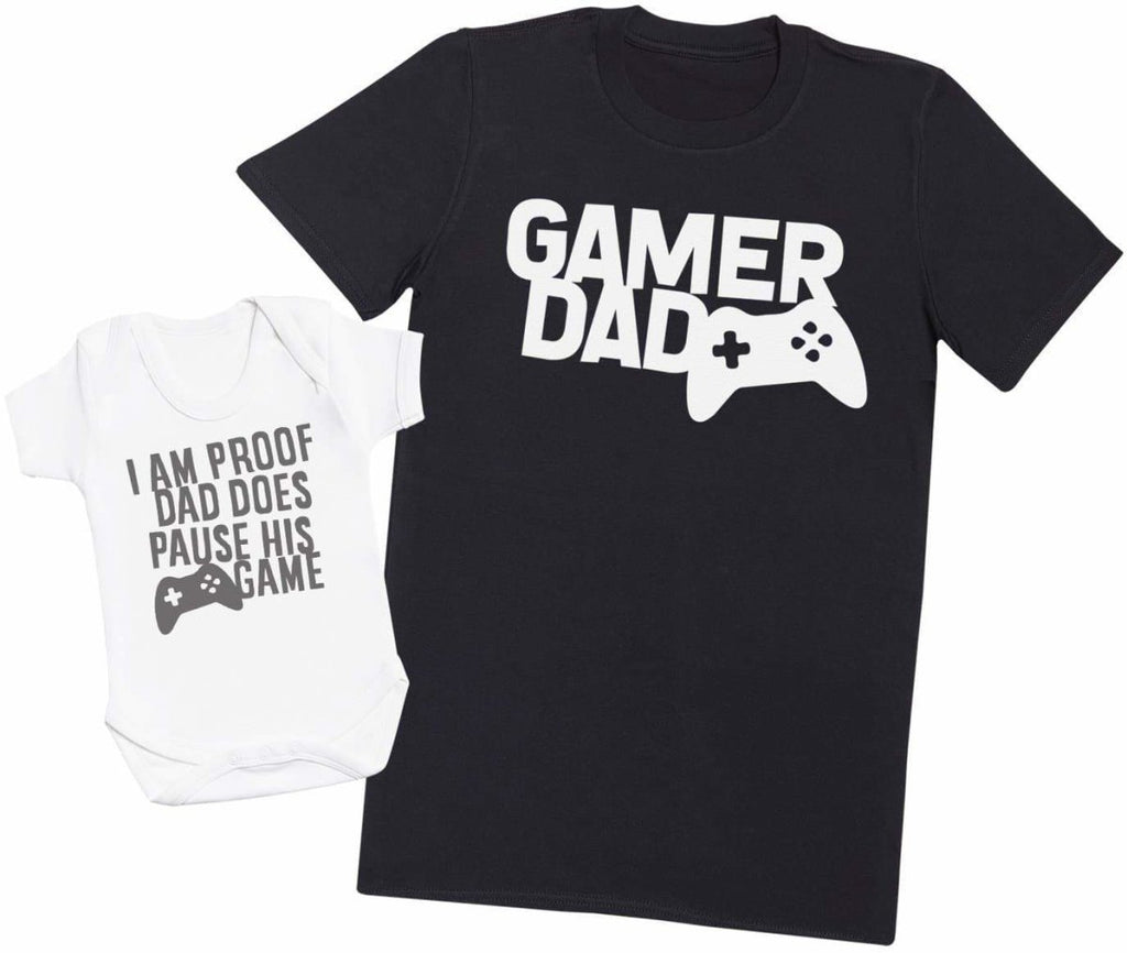 Proof Dad Pauses His Game - Mens T Shirt & Baby Bodysuit - The Gift Project