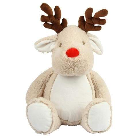 Reindeer Teddy With Personalised Removable T-Shirt - The Gift Project