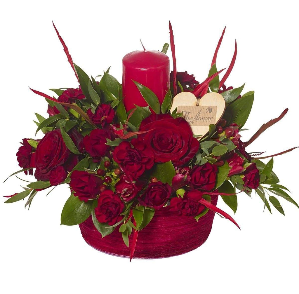 Romantic Reds Candle Arrangement - The Gift Project