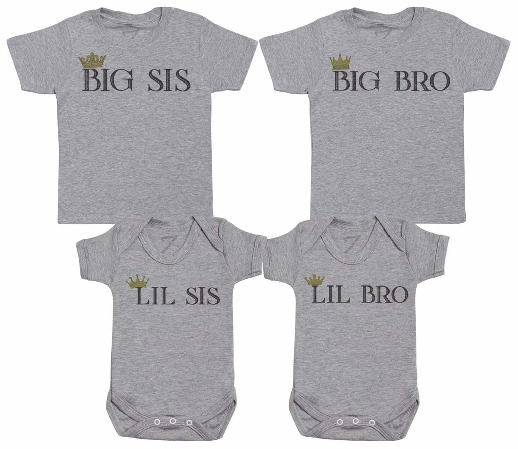 Sibling Crowns - Matching Kids Set - Bodysuits & T-Shirts - Gift Set - The Gift Project