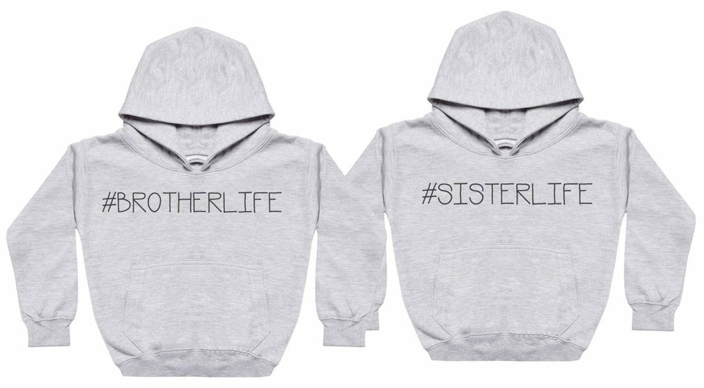 #Sibling Life - Matching Kids Set - Baby / Kids Hoodies - Gift Set - The Gift Project