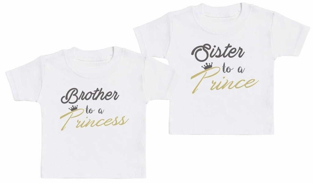Sibling Prince And Princess - Matching Kids Set - Baby / Kids T-Shirts - Gift Set - The Gift Project