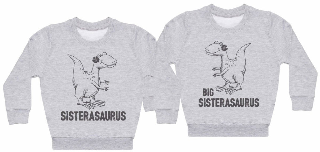 Sisterasaurus & Big Sisterasaurus - Matching Kids Set - Baby / Kids Sweaters - Gift Set - The Gift Project