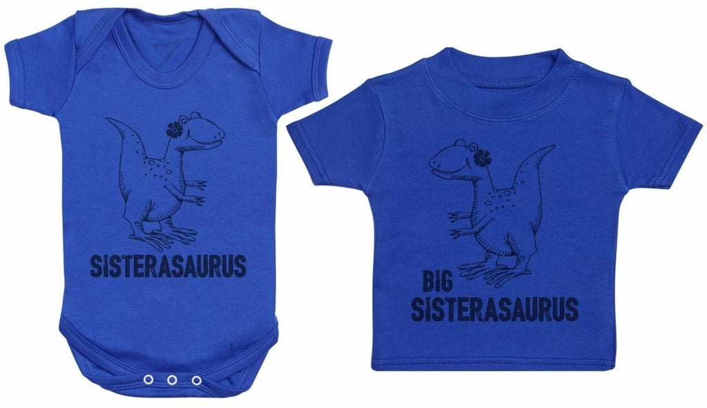 Sisterasaurus & Big Sisterasaurus - Matching Kids Set - Bodysuits & T-Shirts - Gift Set - The Gift Project