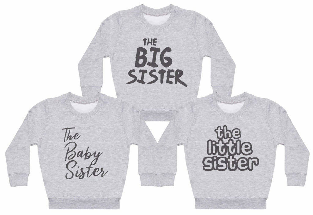 The Big Sister, Baby Sister, Little Sister Set - Matching Kids Set - Baby / Kids Sweaters - Gift Set - The Gift Project