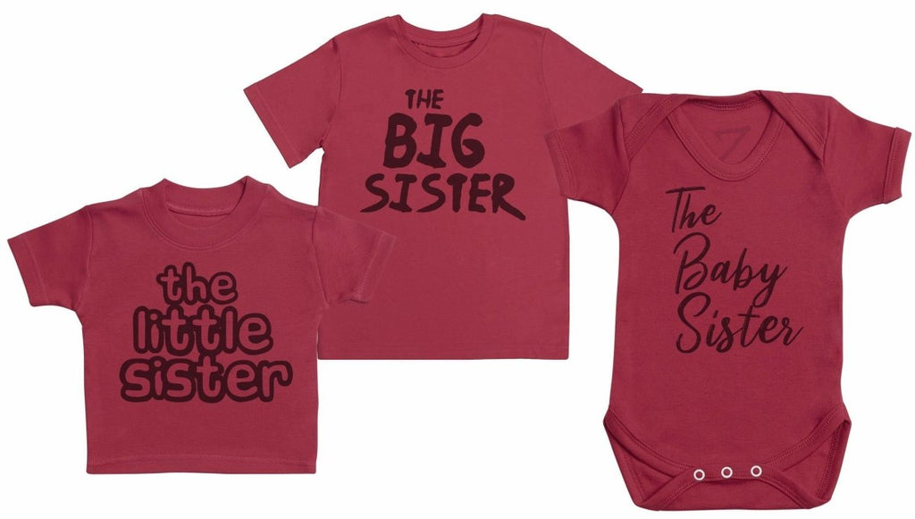 The Big Sister, Baby Sister, Little Sister Set - Matching Kids Set - Bodysuits & T-Shirts - Gift Set - The Gift Project
