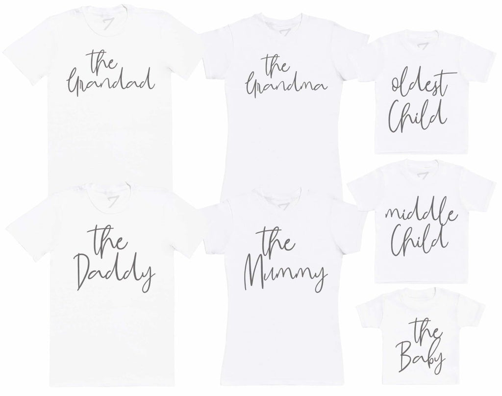 The Family Member Set - - Matching Set - Baby / Kids T-Shirt, Mum & Dad T-Shirt - The Gift Project