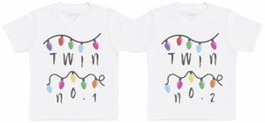 Twin No 1 & 2 Fairy Lights, Kids Twin T-Shirts - The Gift Project