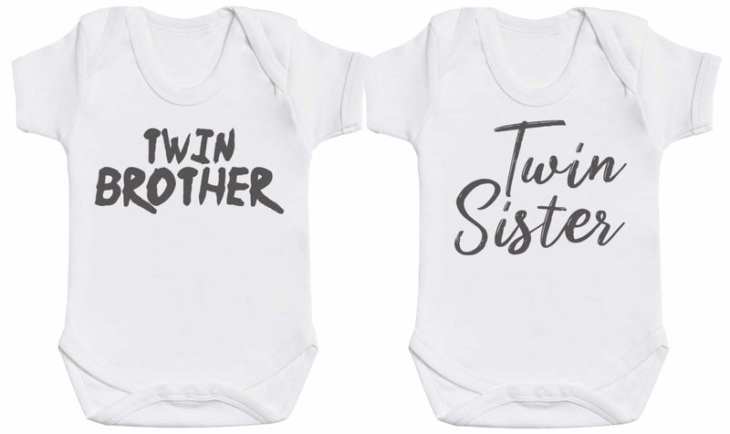 Twin Siblings - Twin Set - Baby Bodysuits - The Gift Project