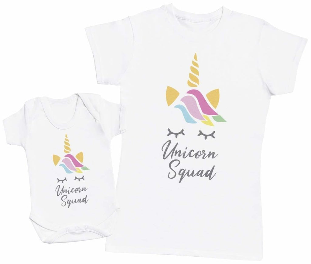 Unicorn Squad - Baby Bodysuit & Mother's T-Shirt - The Gift Project