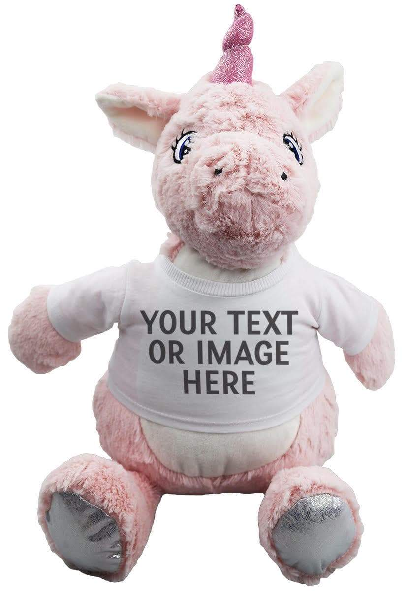 Unicorn Teddy With Personalised Removable T-Shirt - The Gift Project