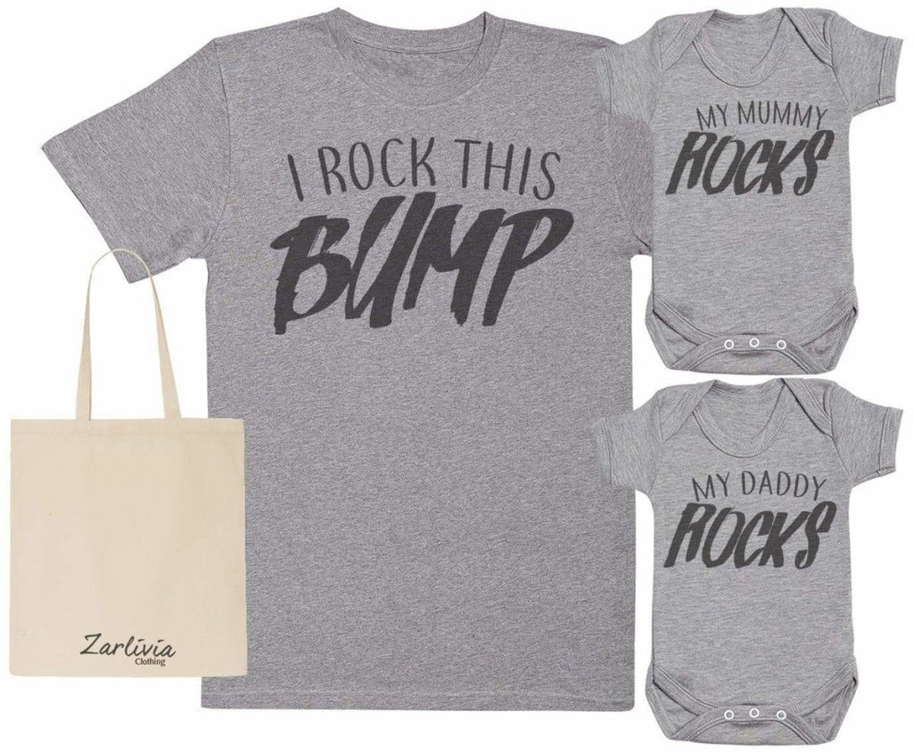 We Rock Maternity Hospital Gift Set Bag with Hospital T - Shirt & New Baby Bodysuit - The Gift Project