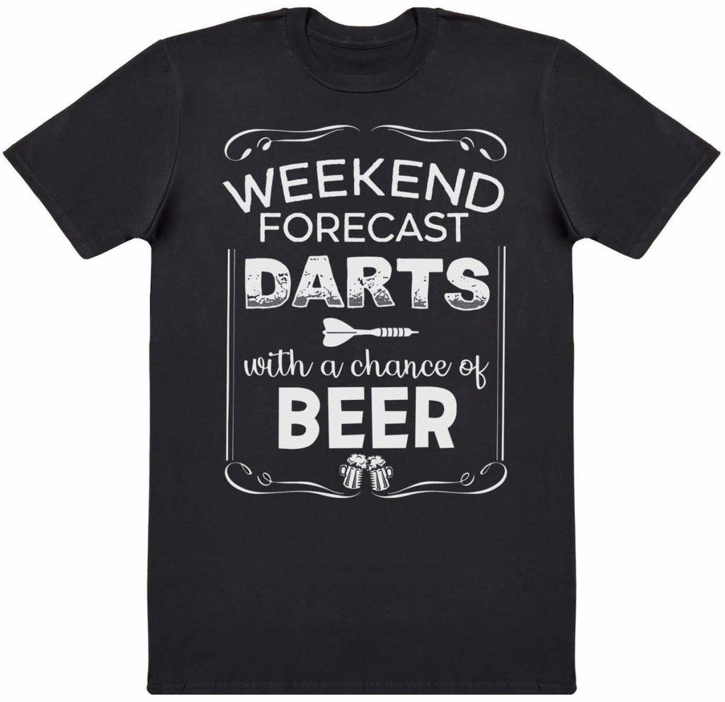 Weekend Forecast Darts Beer - Mens T-Shirt - The Gift Project