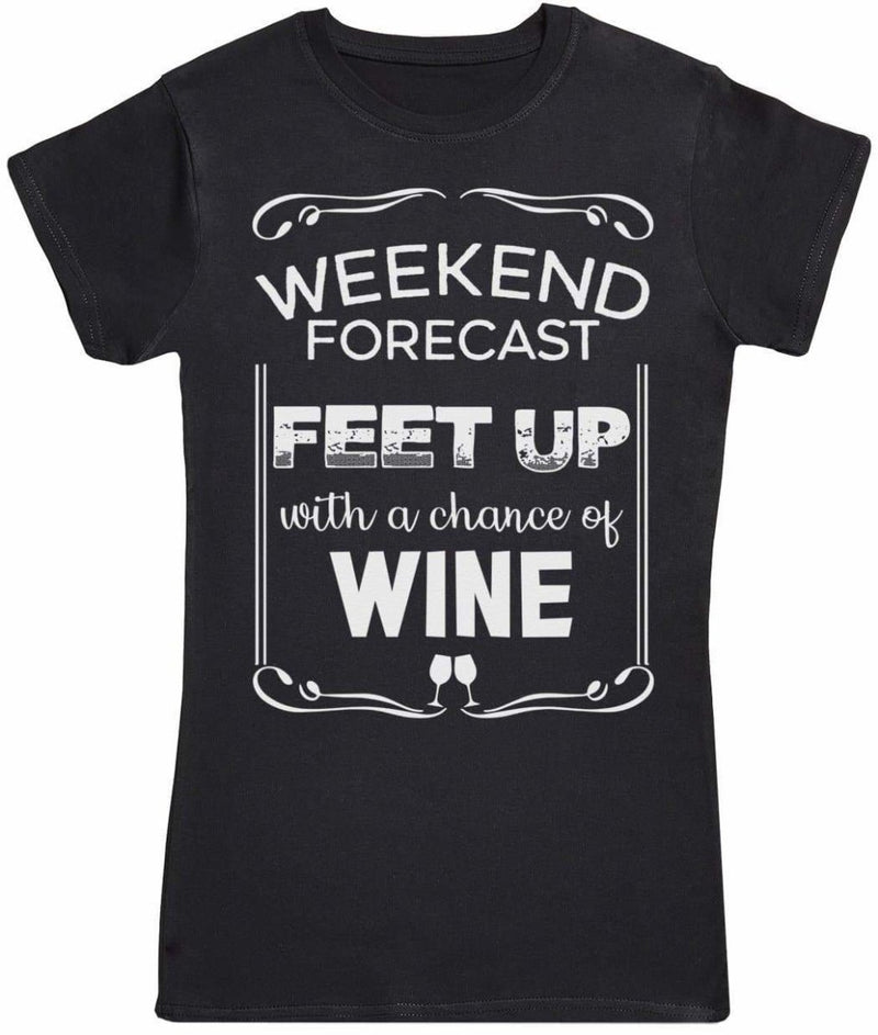 Weekend Forecast Feet Up - Womens T-Shirt - The Gift Project