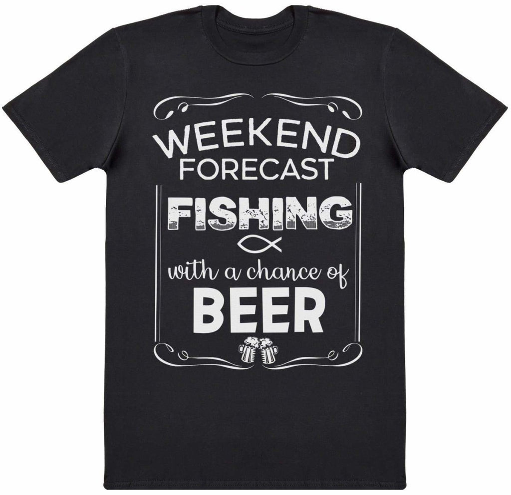 Weekend Forecast Fishing Beer - Mens T-Shirt - The Gift Project