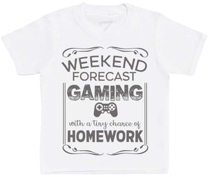 Weekend Forecast Gaming - Kids T-Shirt - The Gift Project