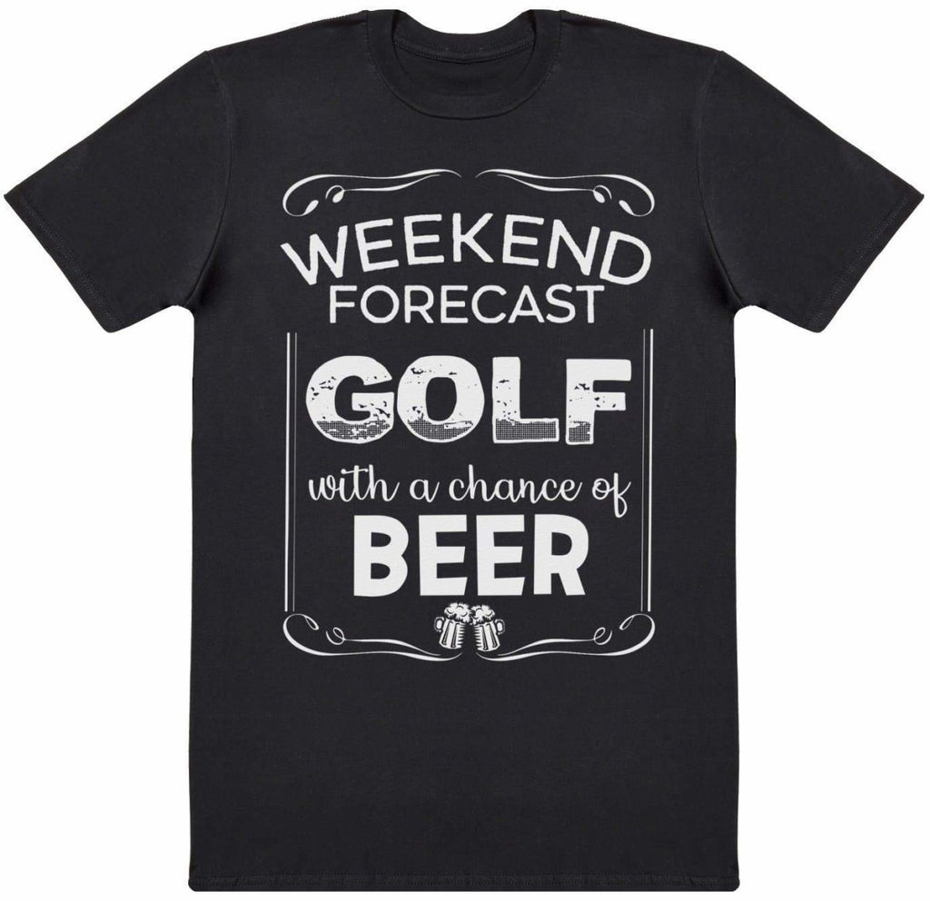 Weekend Forecast Golf Beer - Mens T-Shirt - The Gift Project
