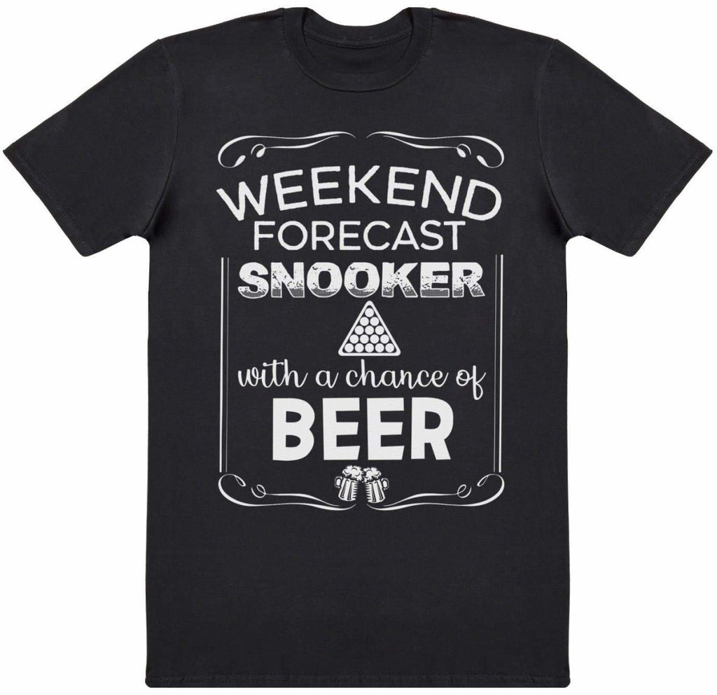 Weekend Forecast Snooker Beer - Mens T-Shirt - The Gift Project