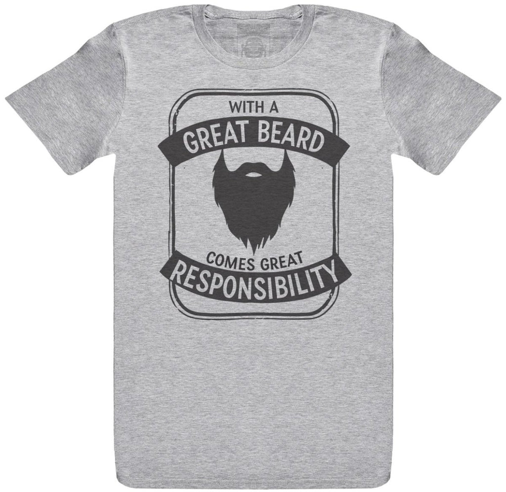 With A Great Beard Comes Great Responsibility - Mens T-Shirt - The Gift Project
