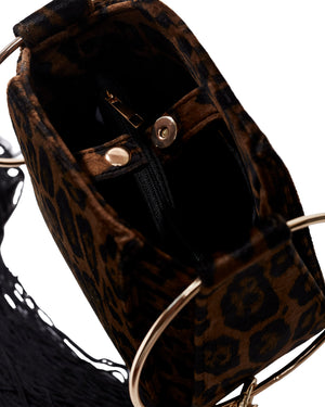 ALEXIS BAG - BROWN LEOPARD