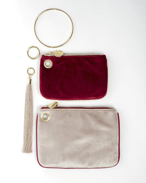 OLSEN DOUBLE BAG - MAGENTA AND CHAMPAGNE