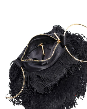 LOLA BAG GOLD HANDLES - BLACK