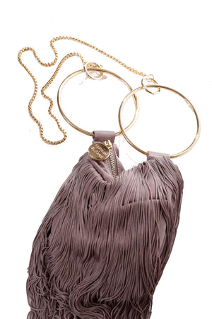 LOLA BAG GOLD HANDLES - MAUVE