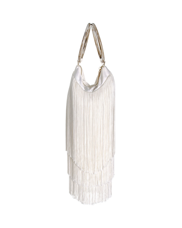 LOLA BAG RESIN HANDLES - IVORY