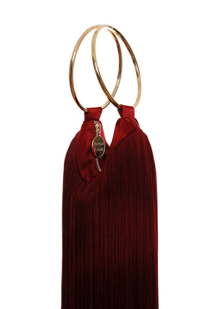 LOLA BAG GOLD HANDLES - RUBY