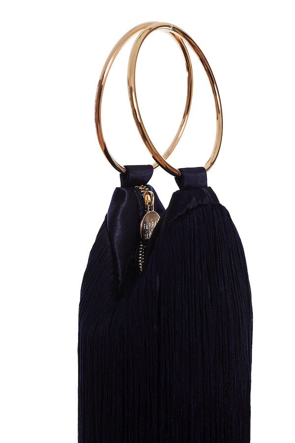 LOLA BAG GOLD HANDLES - NAVY