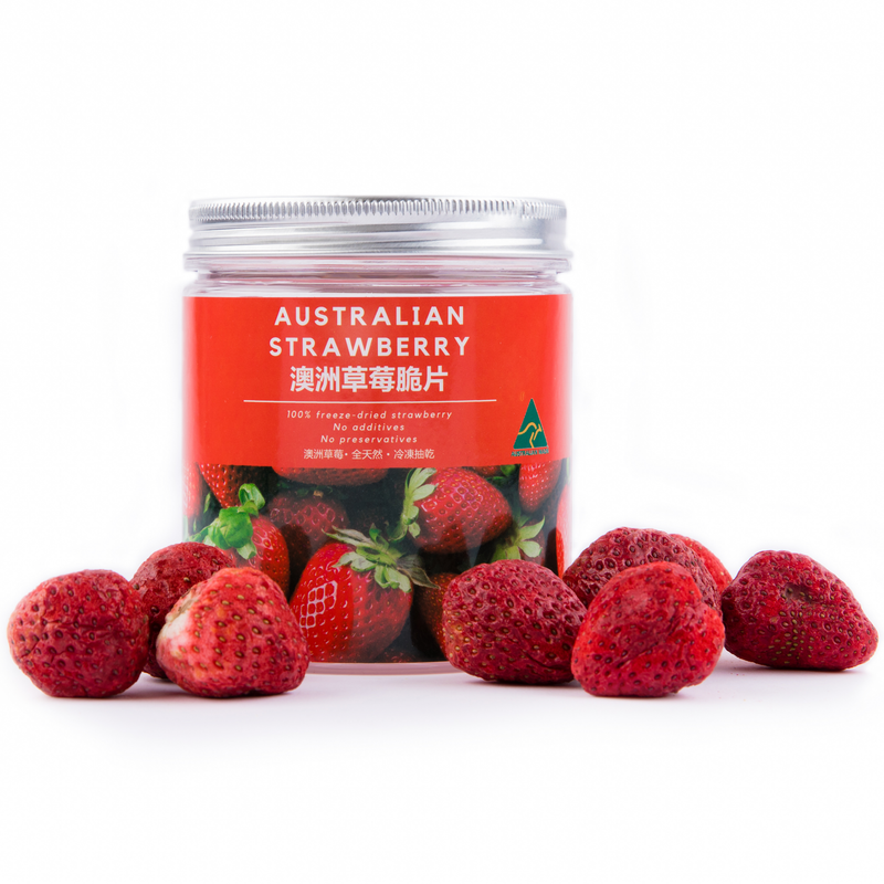 100% Freeze Dried Australian Strawberry Bites (All-natural Snacks)