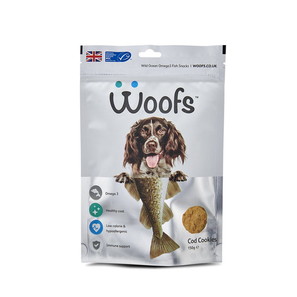 Woofs - Cod Cookies Treat for Dogs - 150G