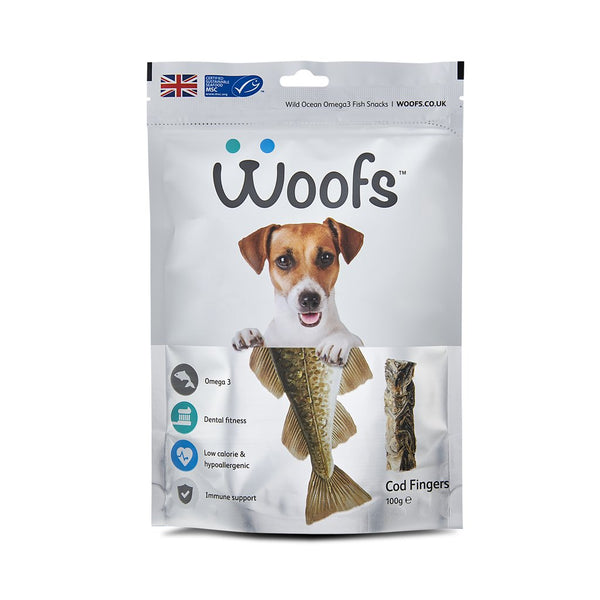 Woofs - Cod Fingers Treat for Dogs - 100G