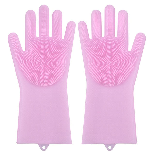 Dishwashing gloves with scrubber | Gartix.com