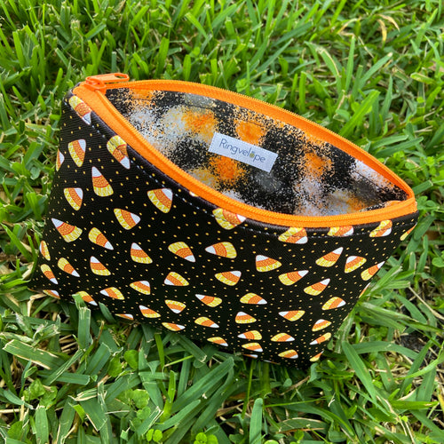 Candy Corn Zip Pouch