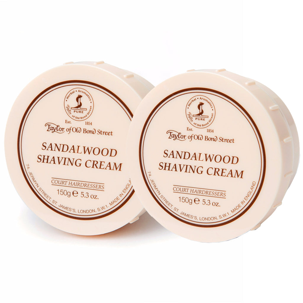 Sandalwood Shaving Cream Bowl 150g- 2Pack - BUYBARBER.COM