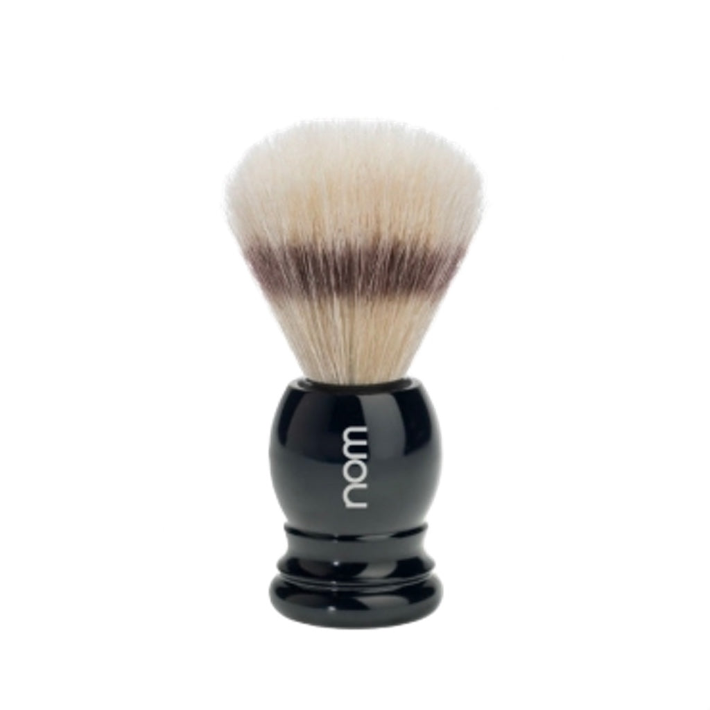 NOM Shaving Brush, Pure Bristle, Plastic Black - BUYBARBER.COM
