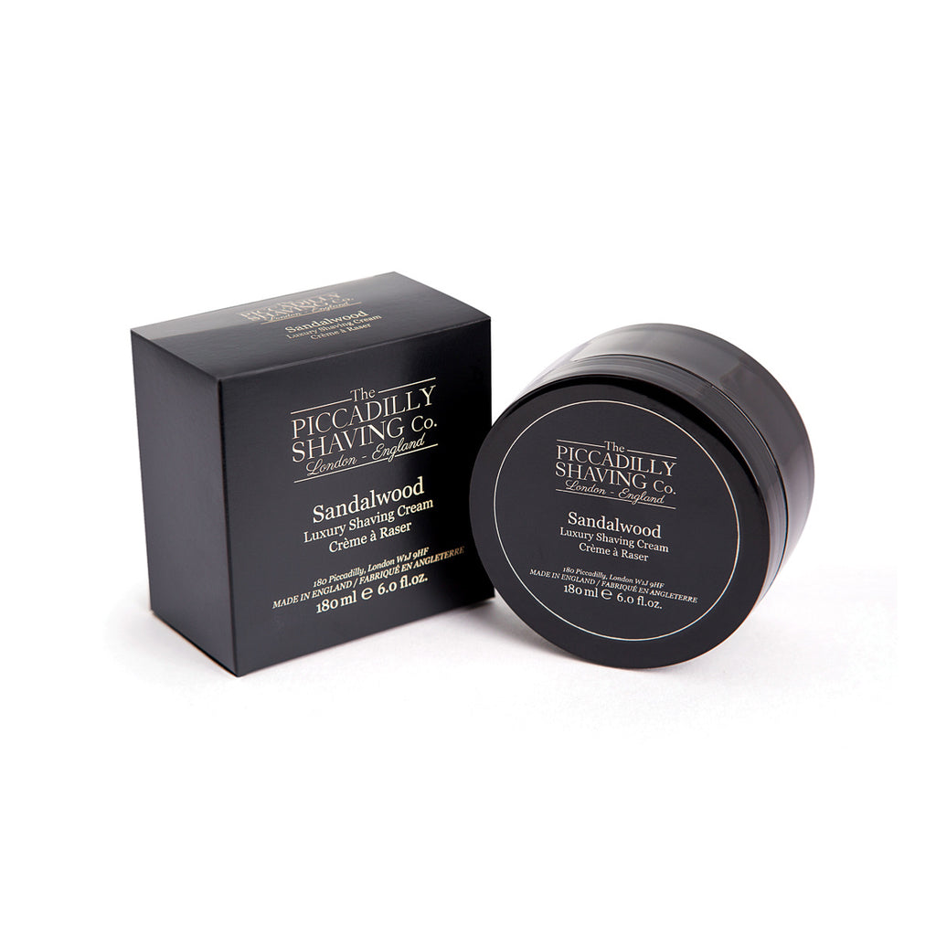 The Piccadilly Shaving Co. Sandalwood Shaving Cream Bowl 180g - BUYBARBER.COM